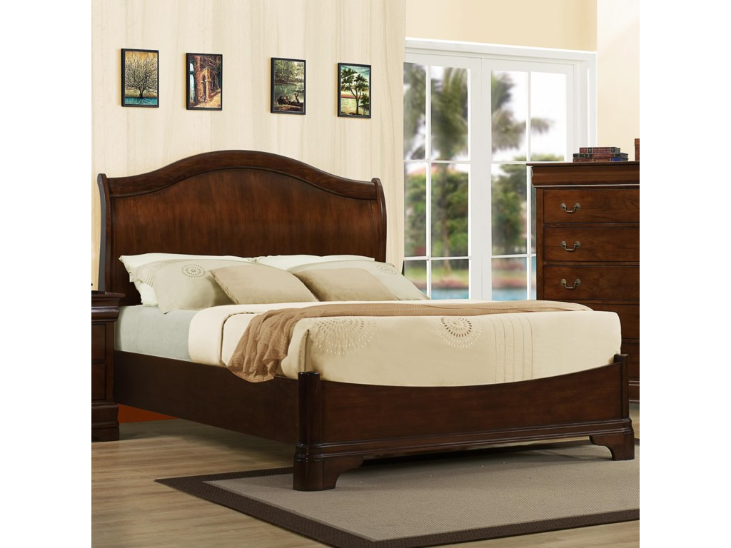 Austin Group Big LouisKing Transitional Headboard Bed