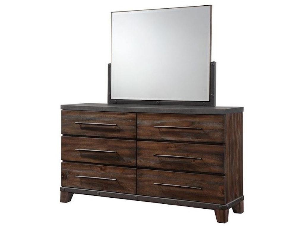 Austin Group ForgeSix Drawer Dresser
