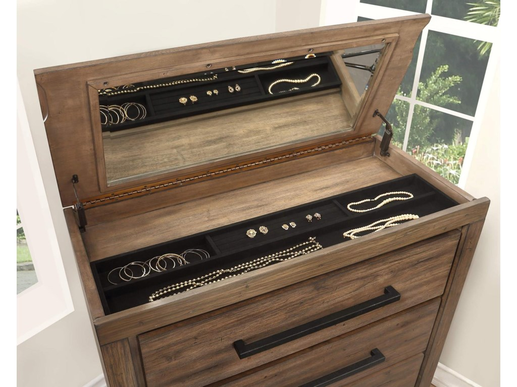Austin Group HavenLift Top Chest with Jewelry Tray