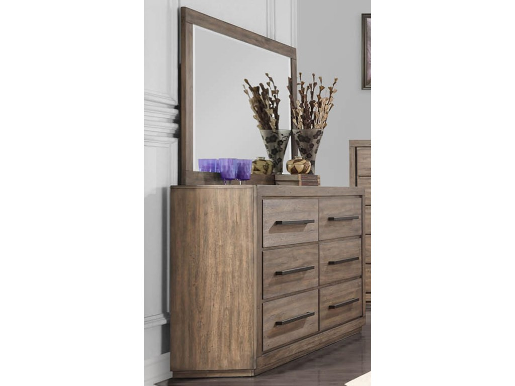 Austin Group HavenDresser with Beveled Mirror
