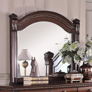 Austin Group Isabella 527 Traditional Beveled Mirror With Round Frame