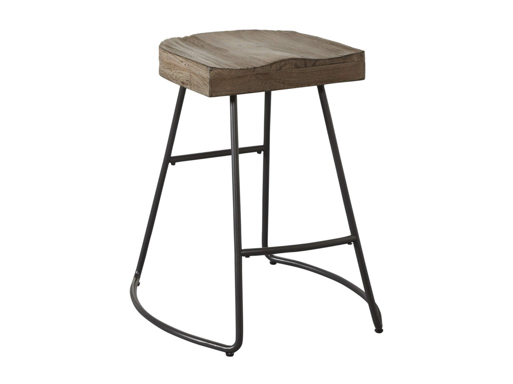 Avalon Furniture BarstoolsSaddle Seat Counter Stool