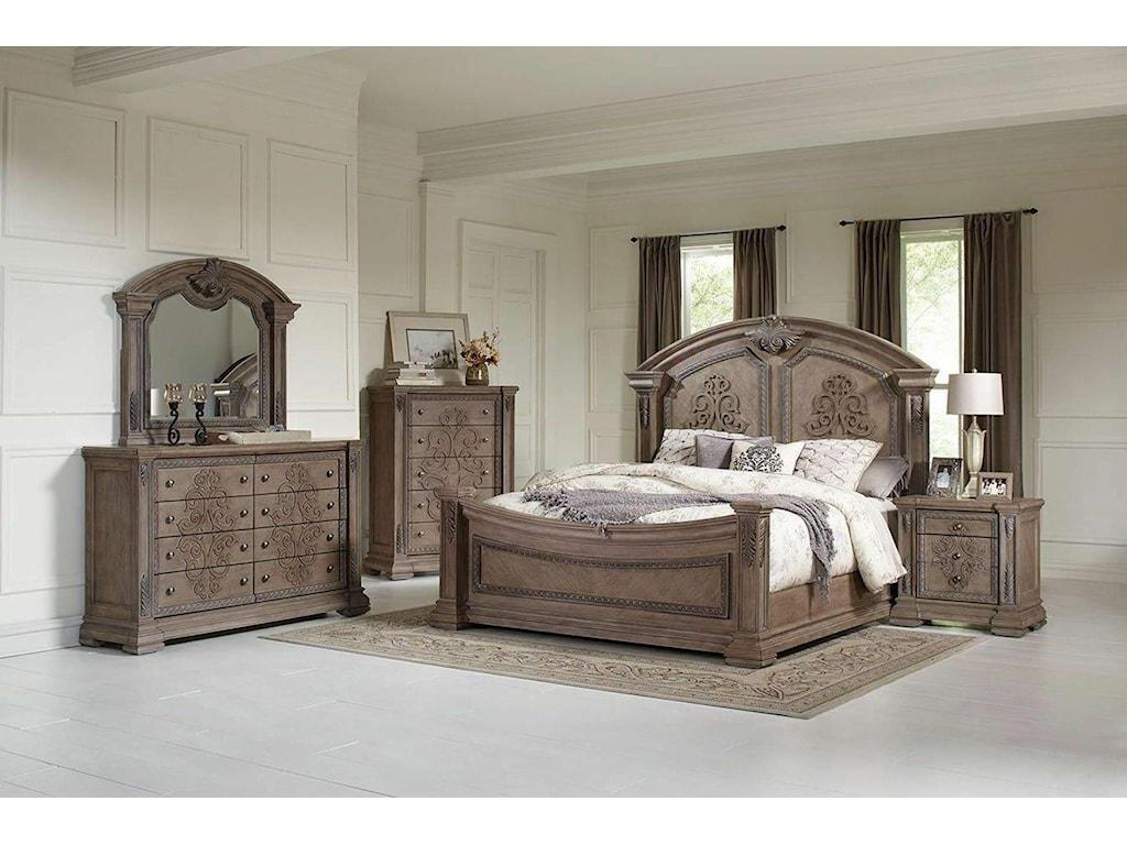 Avalon Furniture TuscanyDresser Mirror