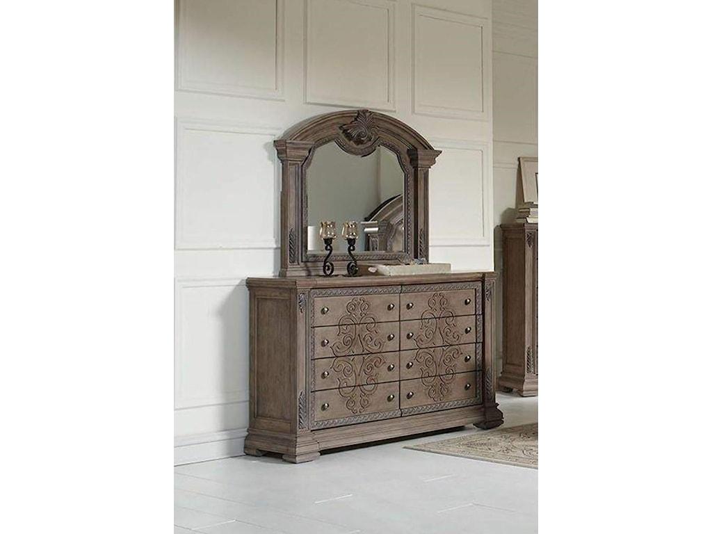 Avalon Furniture TuscanyDresser and Mirror
