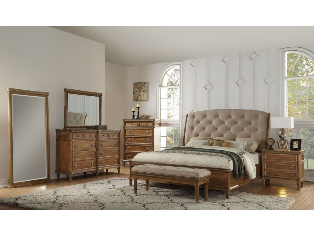 Avalon Furniture AscotDresser and Mirror Set