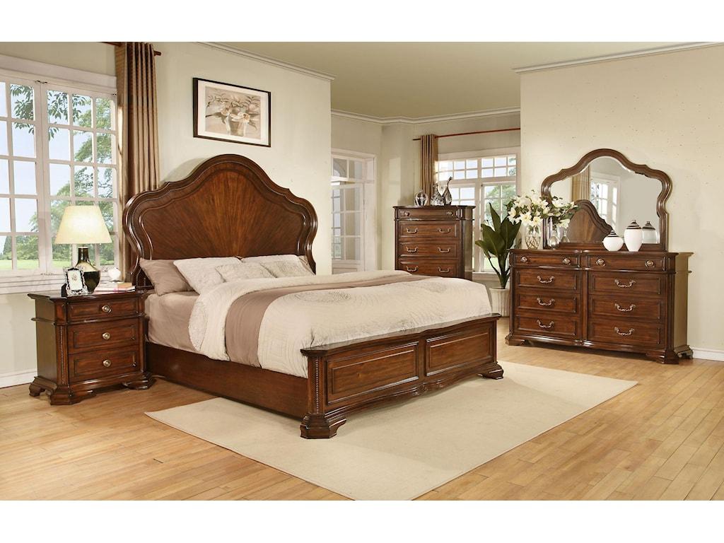 Avalon Furniture B00310Dresser and Mirror