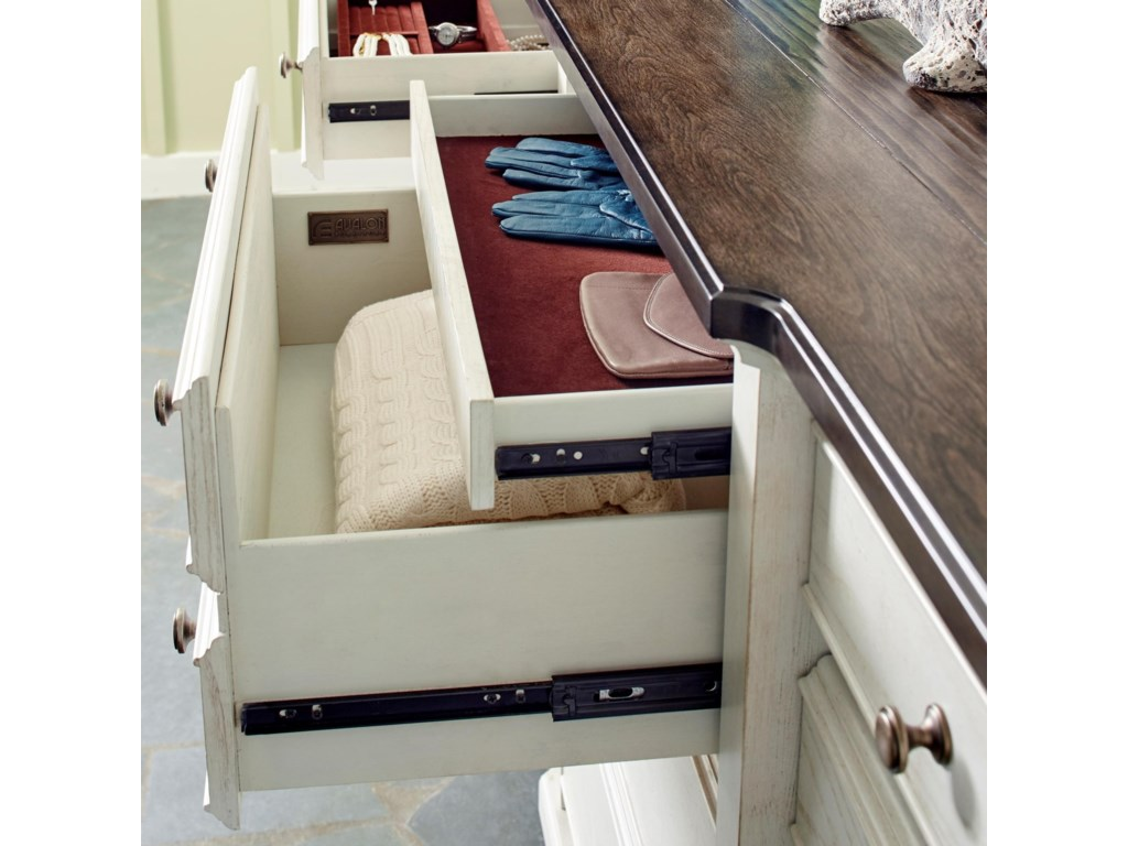 Avalon Furniture Mystic CayDresser and Mirror