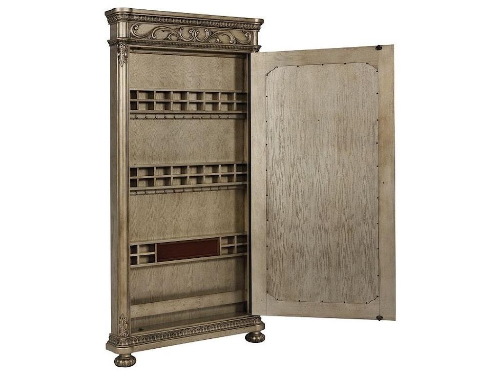 Avalon Furniture SevilleStorage Floor Mirror with Bun Feet