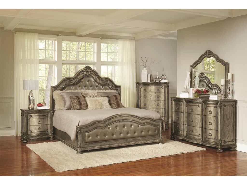 Avalon SevilleKing 5 Piece Bedroom Group