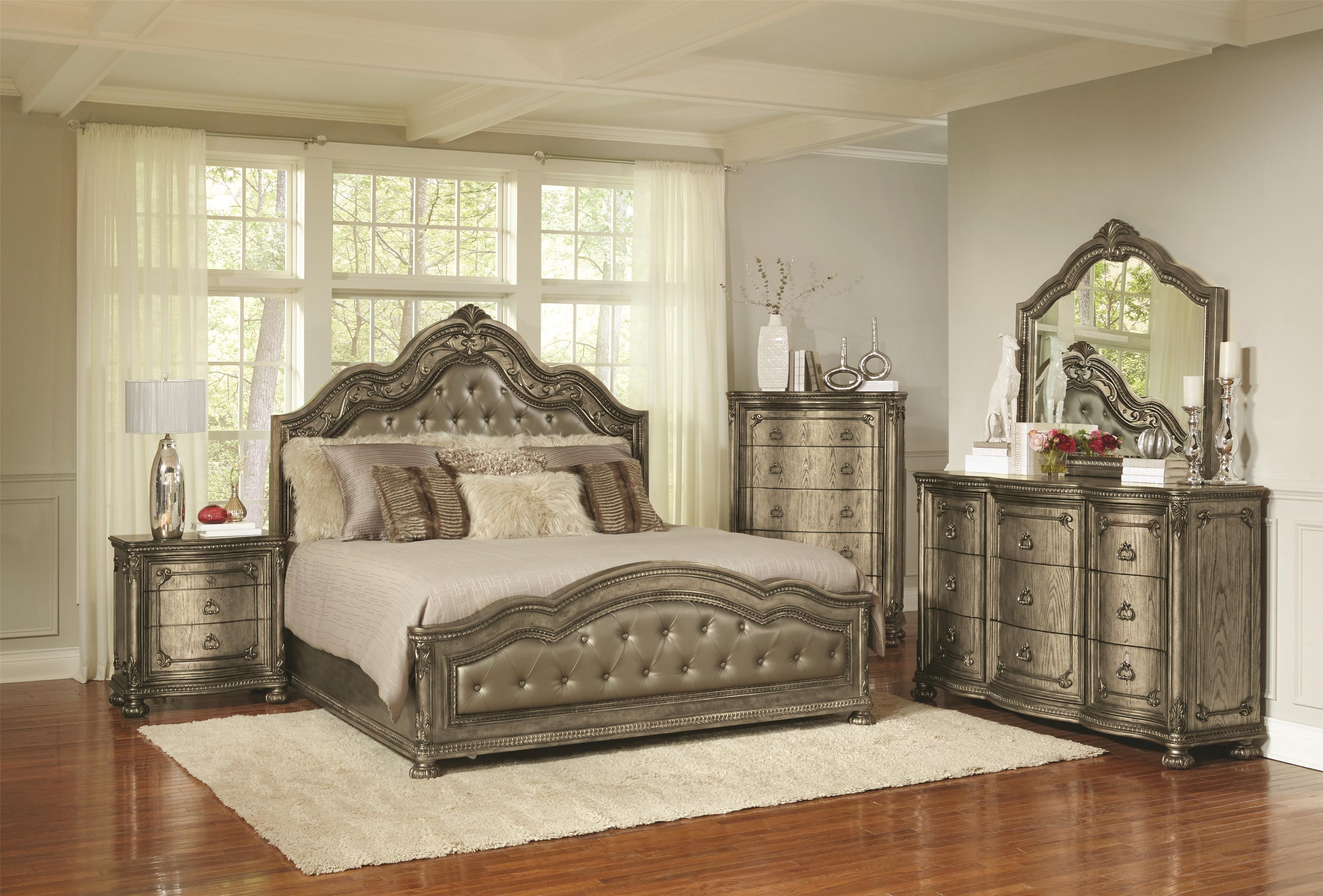 Avalon Seville Queen 5 Piece Bedroom Group Royal Furniture Bedroom Groups