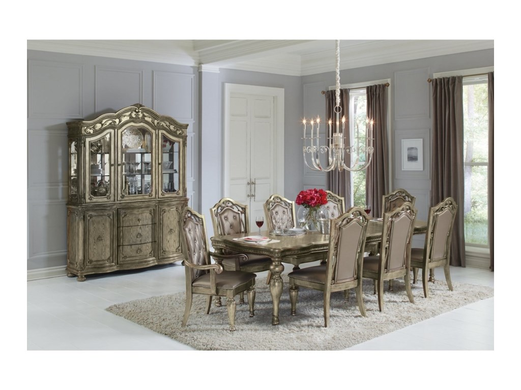 Avalon Furniture Seville9-Piece Rectangular Dining Table Set