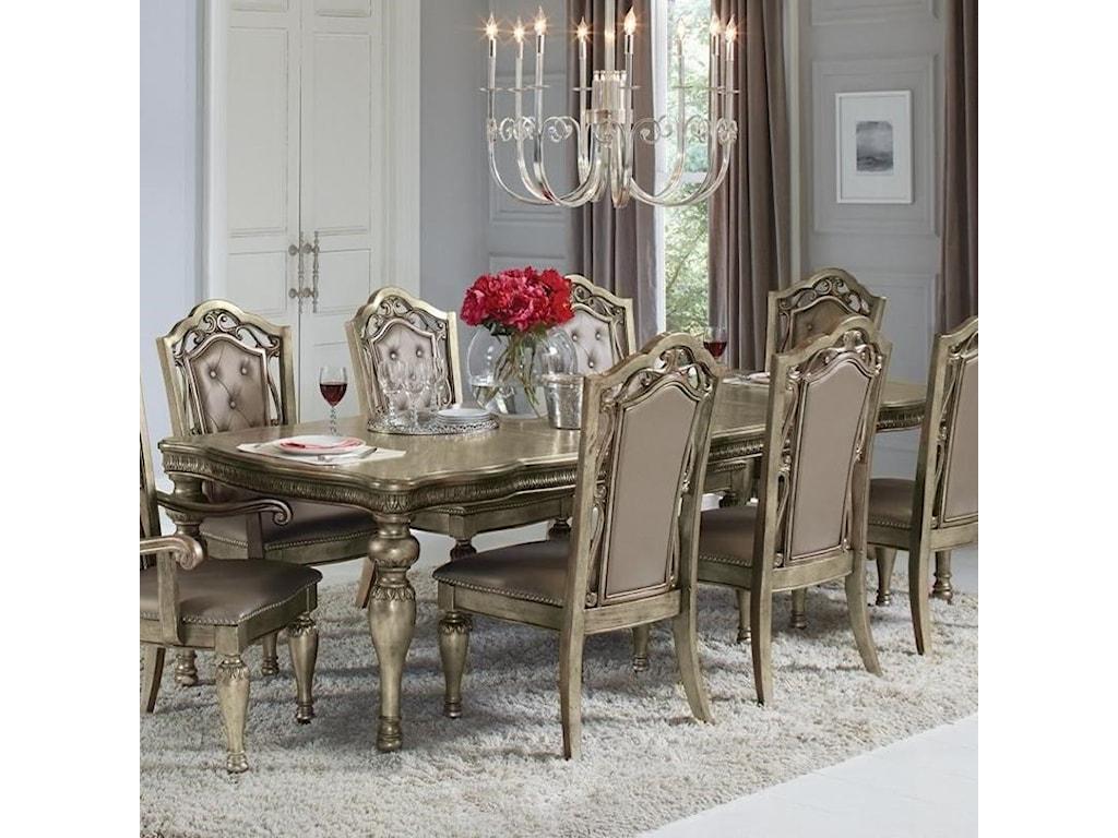 Avalon Furniture SevilleRectangular Top Leg Table w/ 2 Leaves