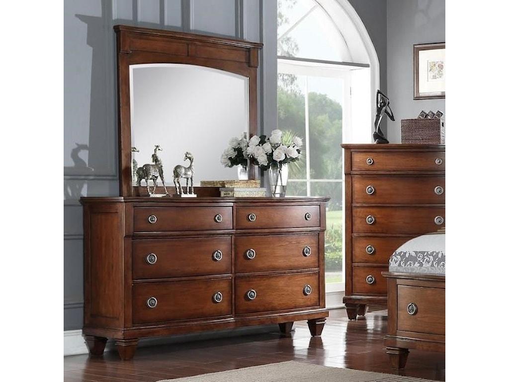 Avalon Furniture B068Dresser & Mirror