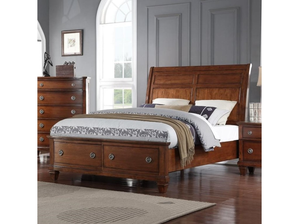 Avalon Furniture B068King Storage Bed with Sleigh Headboard