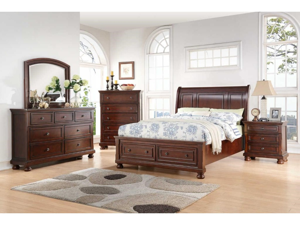 Avalon Furniture SophiaQueen Storage Bedroom Group