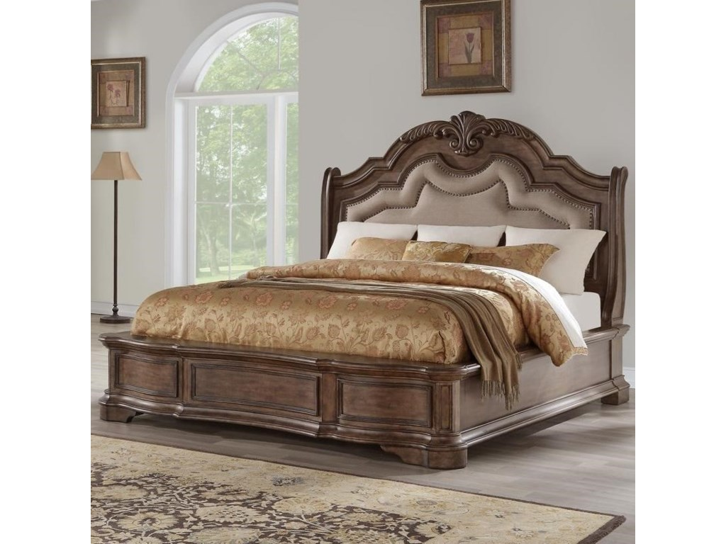 Avalon TulsaQueen Upholstered Bed
