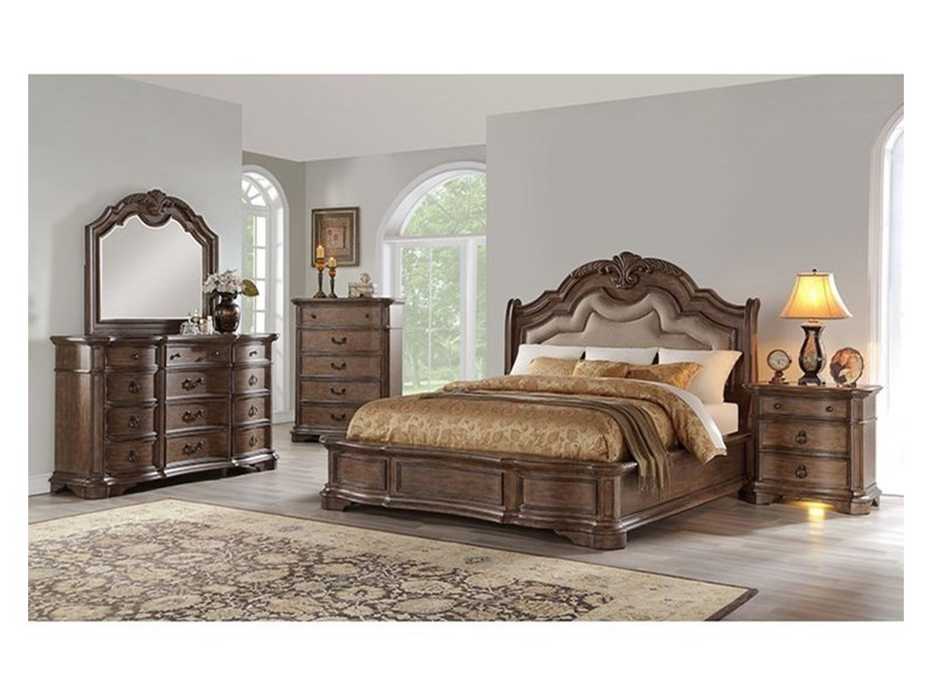 Avalon Furniture TulsaKing Upholstered Bed