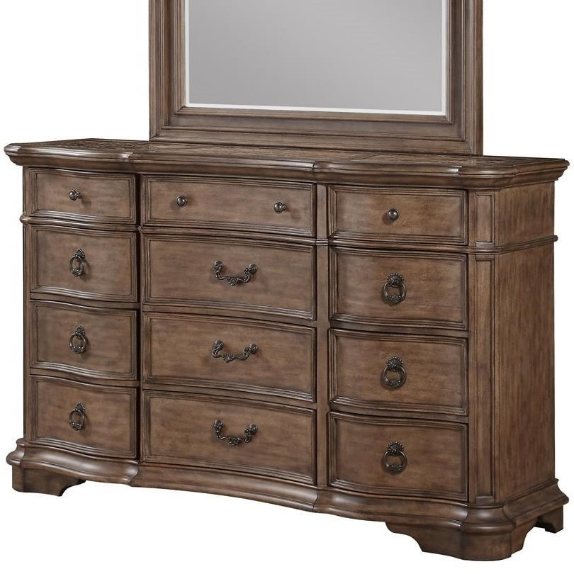Avalon furniture b1495 b1495 d traditional 12 drawer dresser with cedar lining household furniture dressers