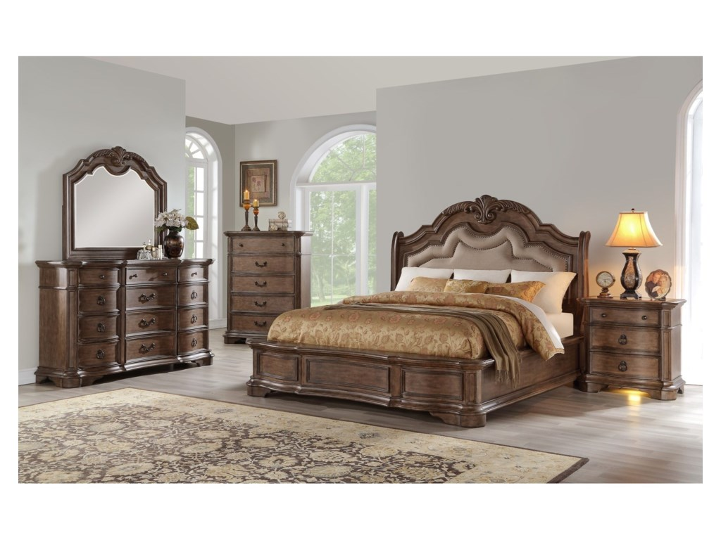 Avalon Furniture TulsaQueen Bedroom Group