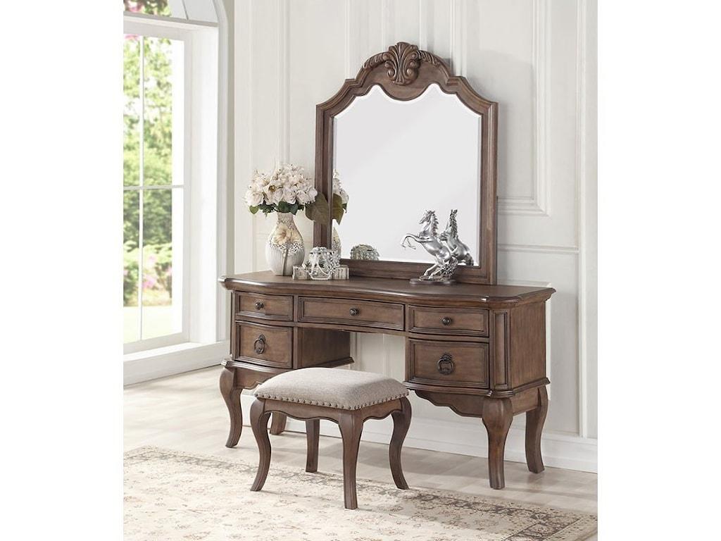 Avalon Furniture TulsaVanity Mirror Set