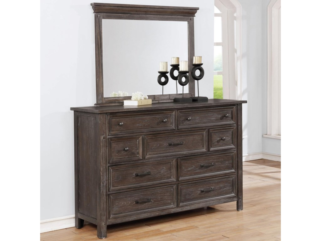 Avalon Furniture B1600Dresser and Mirror