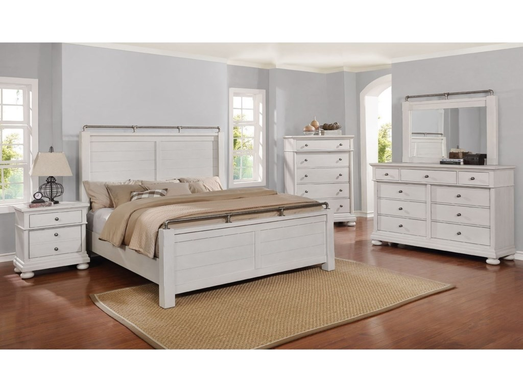 Avalon Furniture Bellville - WhiteQueen Bedroom Group
