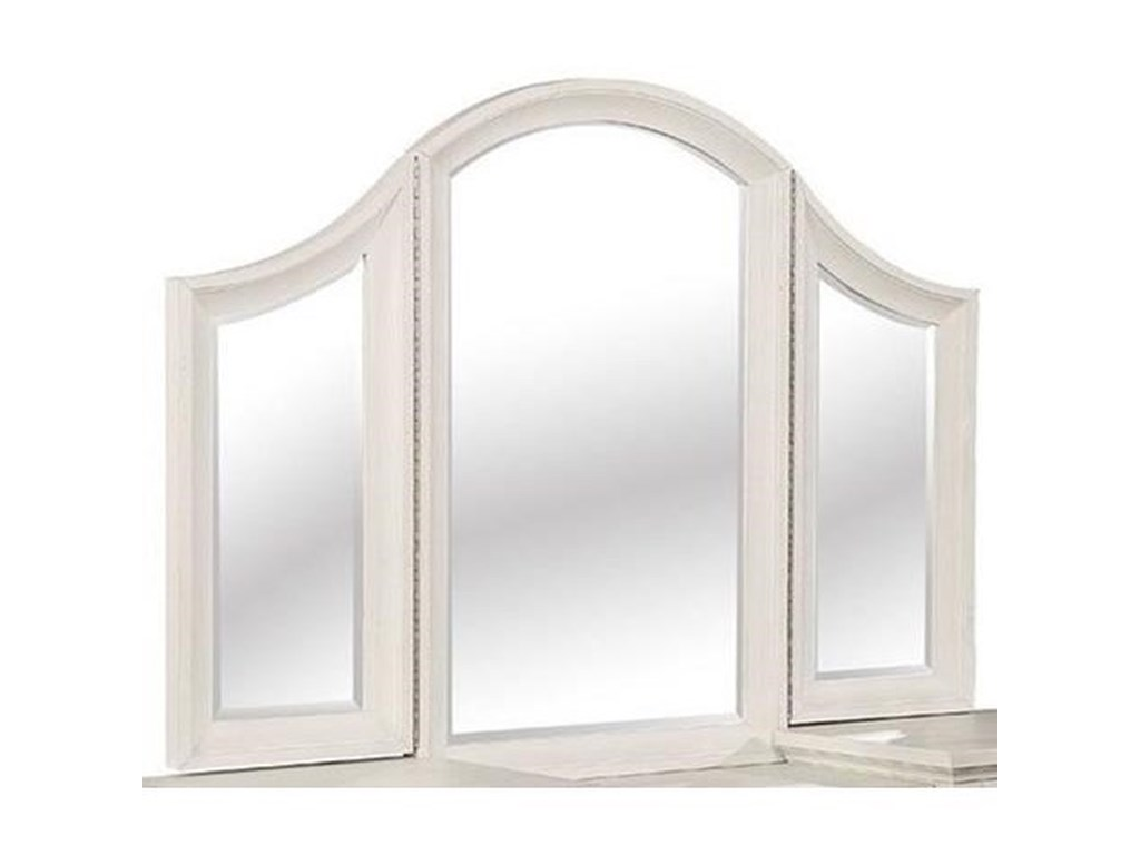 Avalon Furniture Bellville - WhiteVanity Tri-Mirror