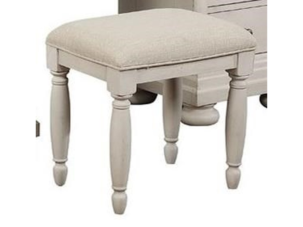 Avalon Furniture Bellville - WhiteVanity Bench