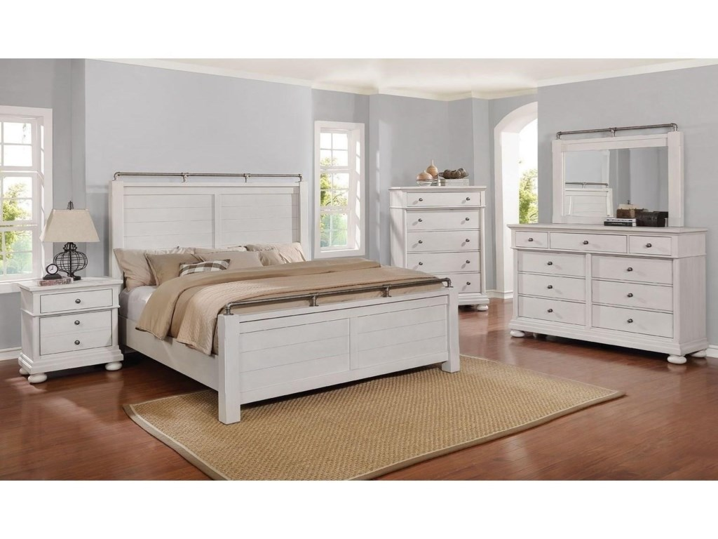 Avalon Furniture Bellville - WhiteQueen Post Bed