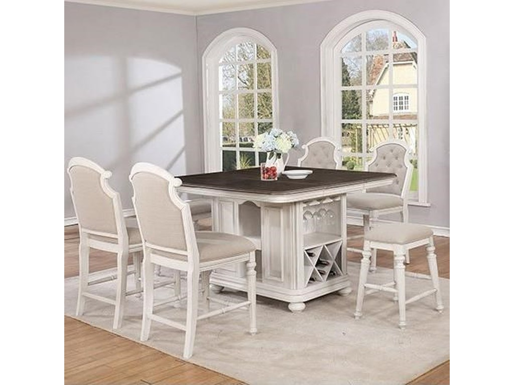 Avalon Furniture Christina Cottage Kitchen Island and Chair ...