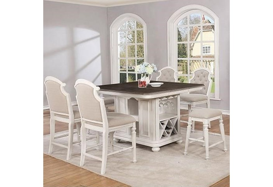 Avalon Furniture Christina Cottage Kitchen Island And Chair Set Story Lee Furniture Pub Table And Stool Sets