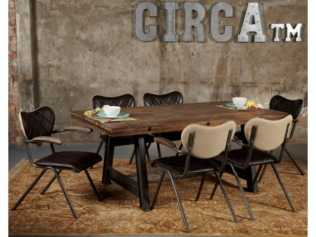 Avalon Furniture Circa7-Piece Dining Table Set