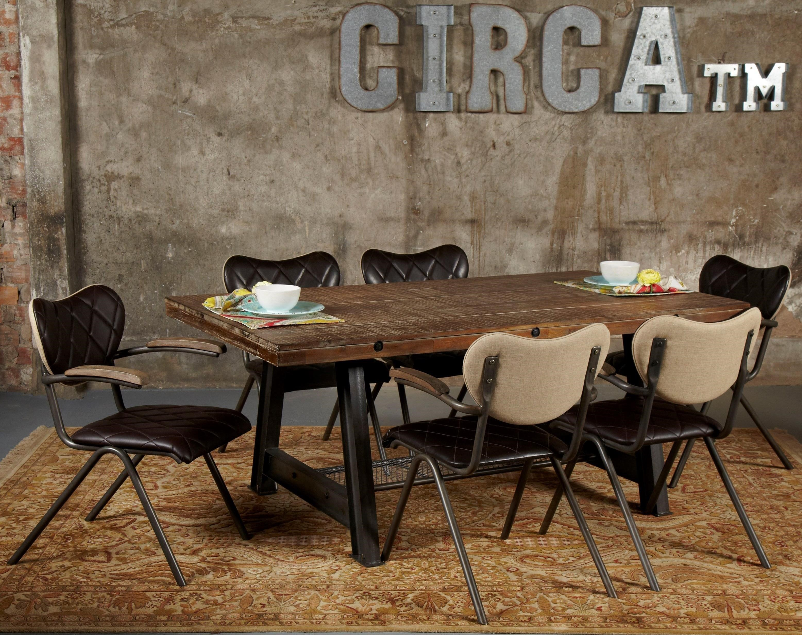 Avalon Furniture Circa 7 Piece Dining Table Set With A Frame Table U0026 Vintage