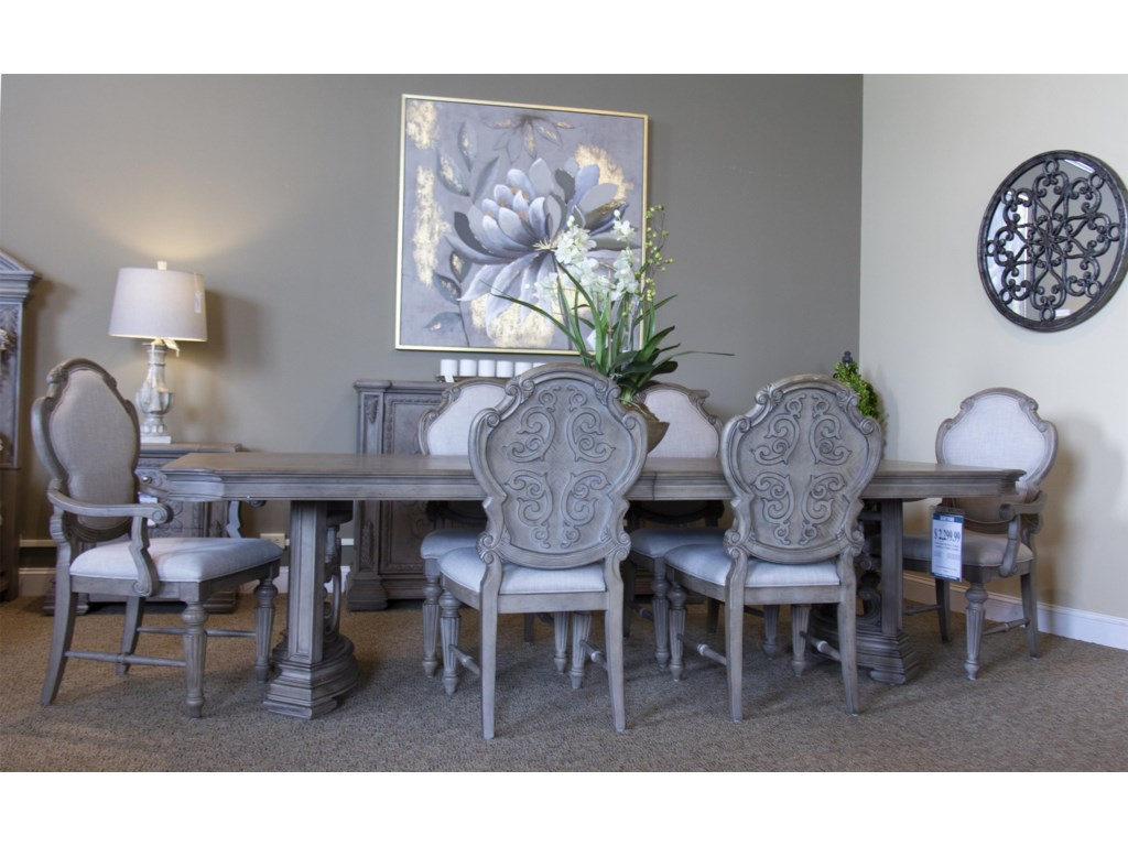 Avalon Furniture TuscanyDining Table, 4 Side chairs & 2 Arm Chairs