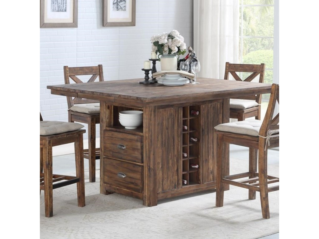 Avalon Furniture D526 Rustic Solid Wood Kitchen Island with ...