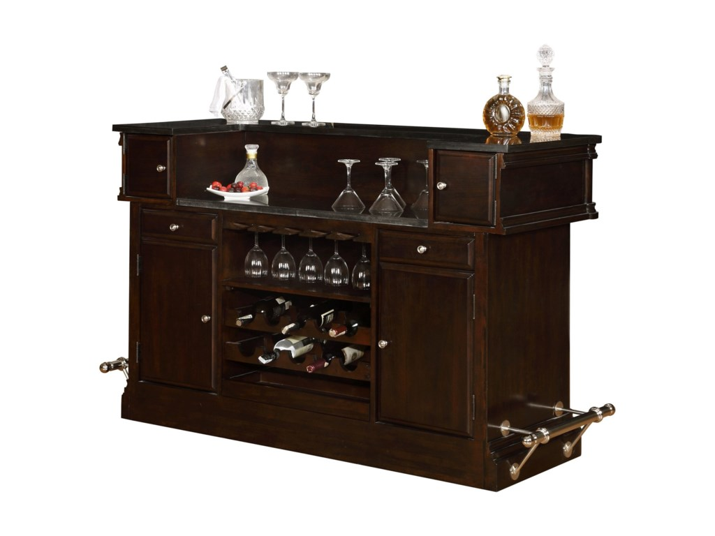 Avalon Furniture Dundee Place2 Drawer Bar with Granite Top