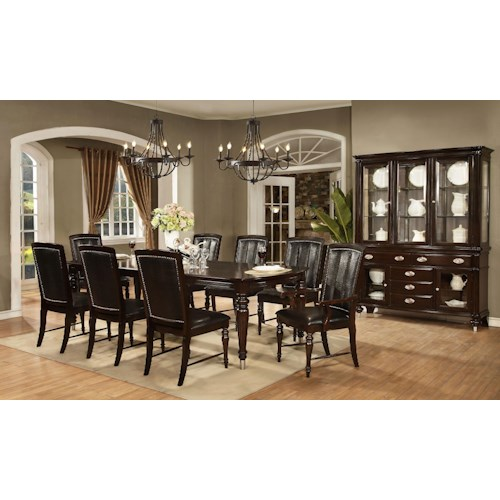 Avalon Furniture Dundee Place Formal Dining Room Group Pilgrim Furniture City Formal Dining