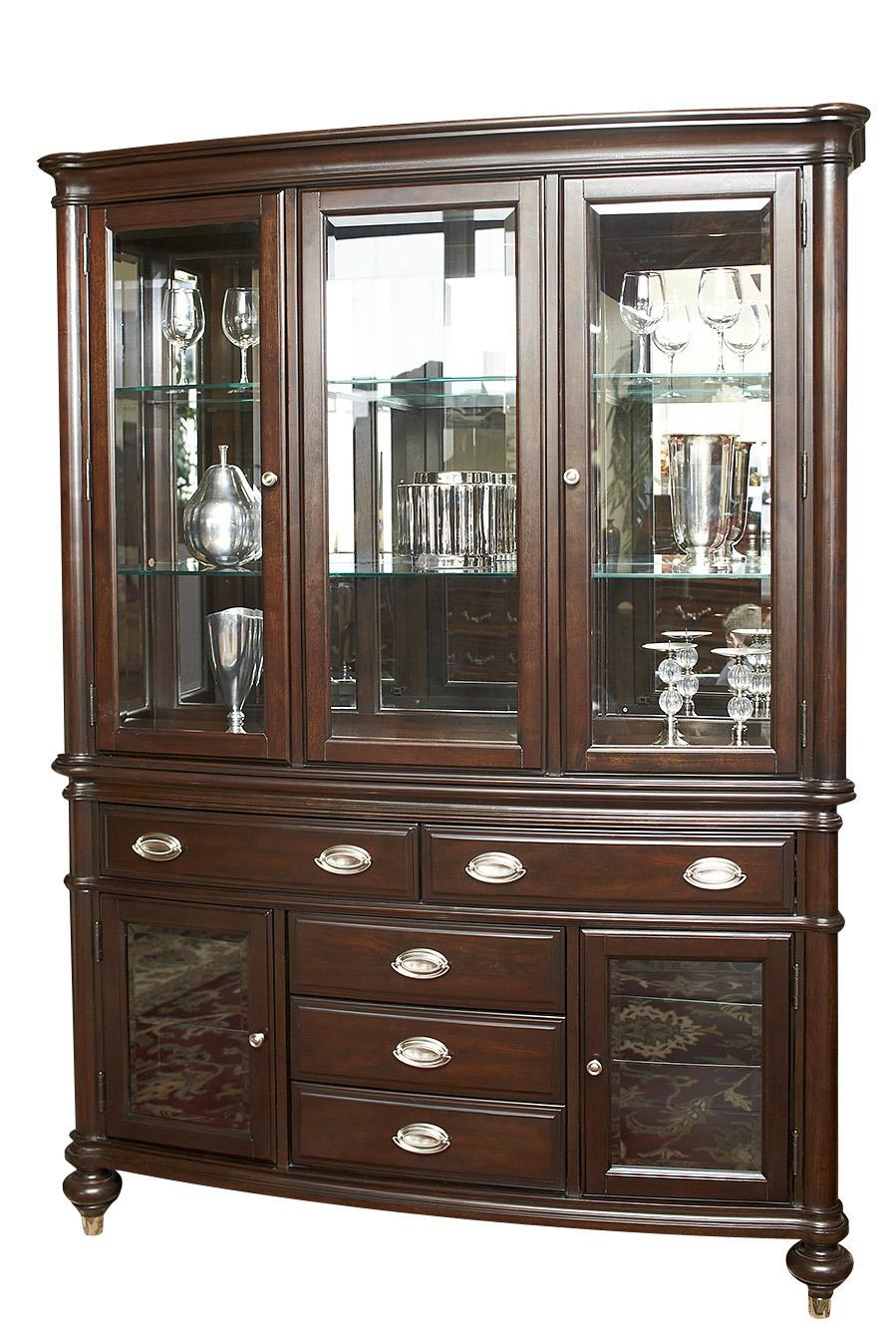 Beau Avalon Furniture Dundee Place Traditional China Cabinet With LED Lighting