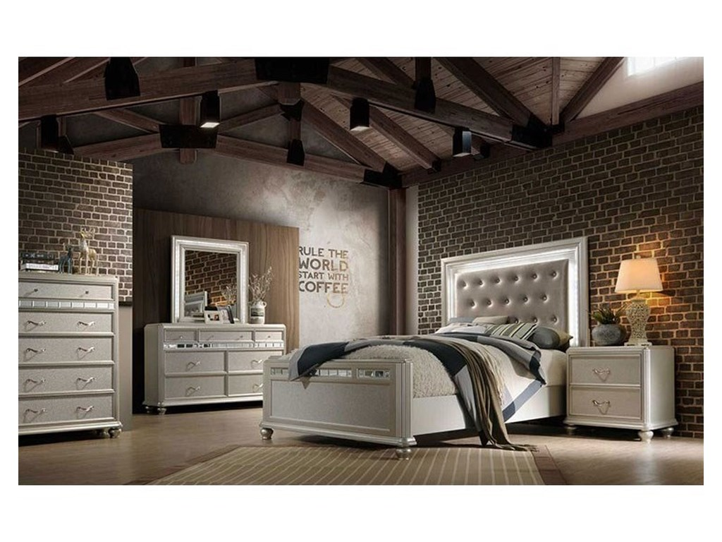 Avalon Furniture KaleidoscopeQueen Upholstered Bed