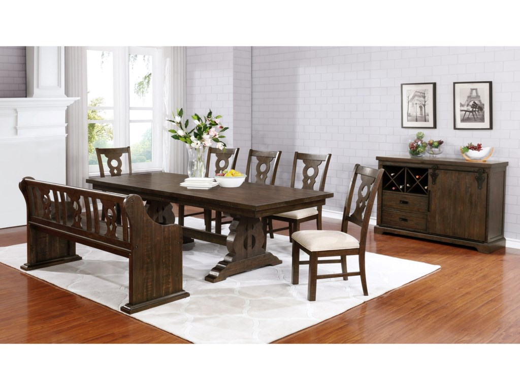 Avalon Furniture LancasterRectangular Butterfly Dining Table