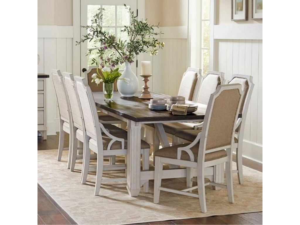 Avalon Furniture Mystic Cay9 Pc Dining Set