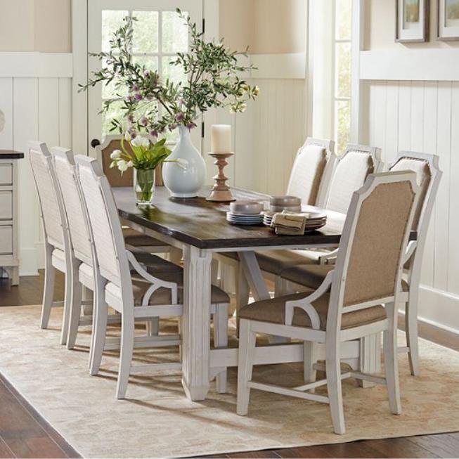 Avalon Furniture Mystic Cay Nine Piece Dining Set