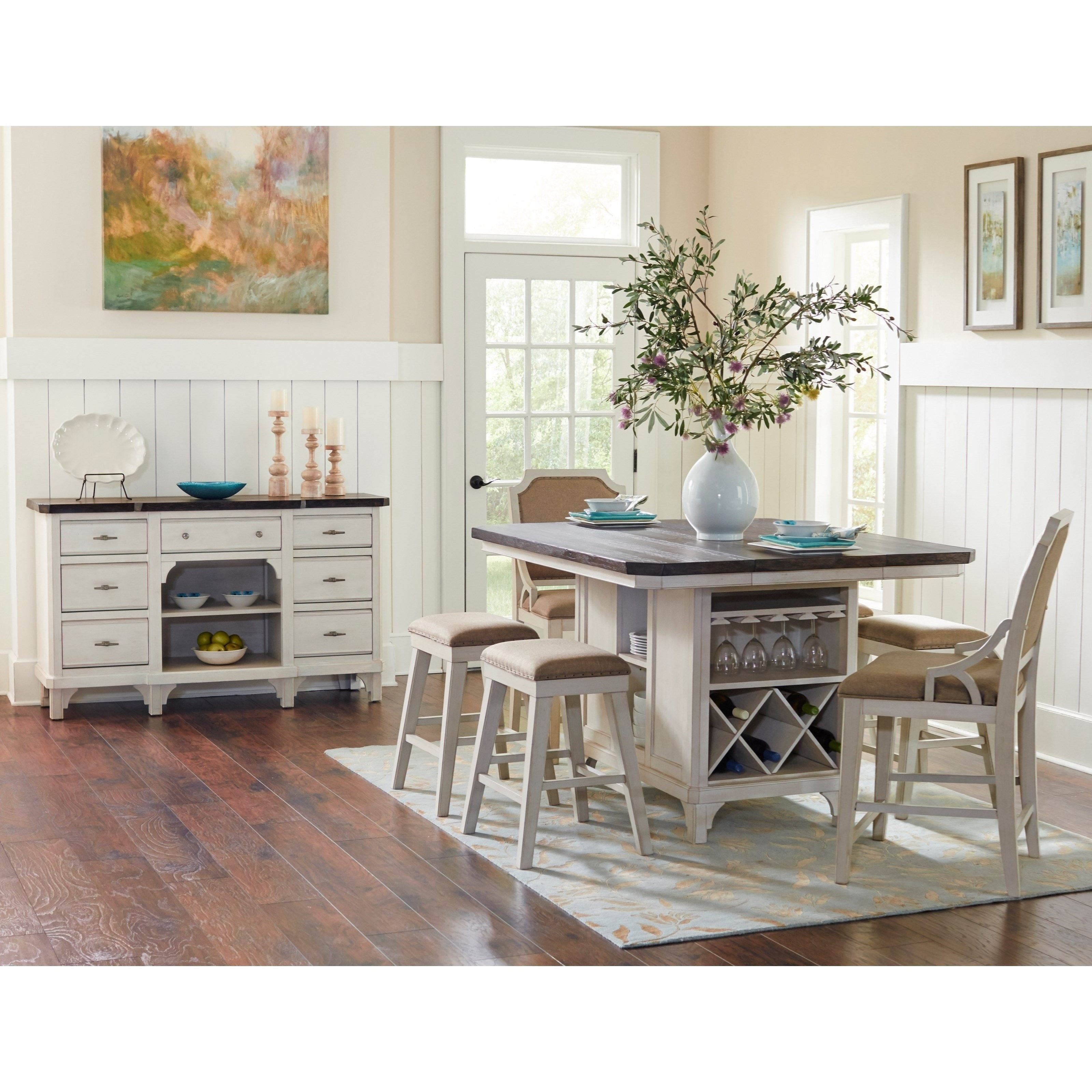 Merveilleux Mystic Cay Casual Dining Room Group By VFM Signature
