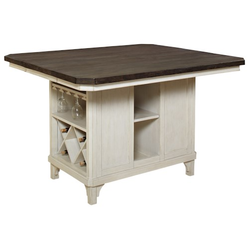 Avalon Furniture Mystic Cay Kitchen Island With 18