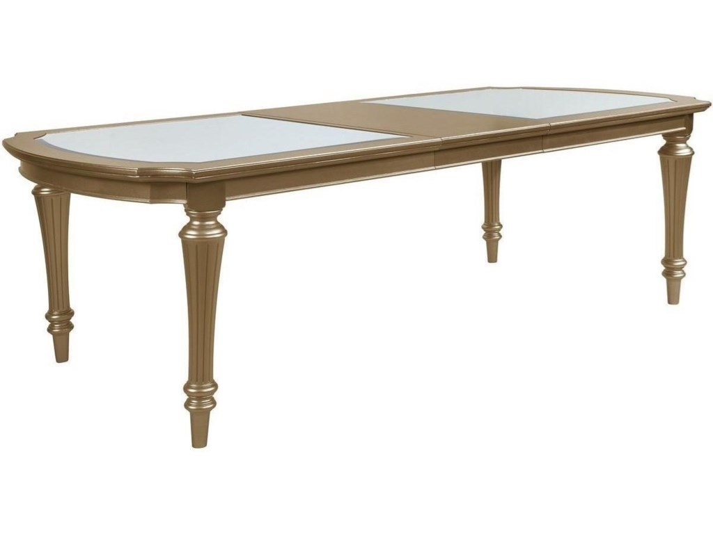 Avalon Furniture Regency GoldRectangular Leg Table