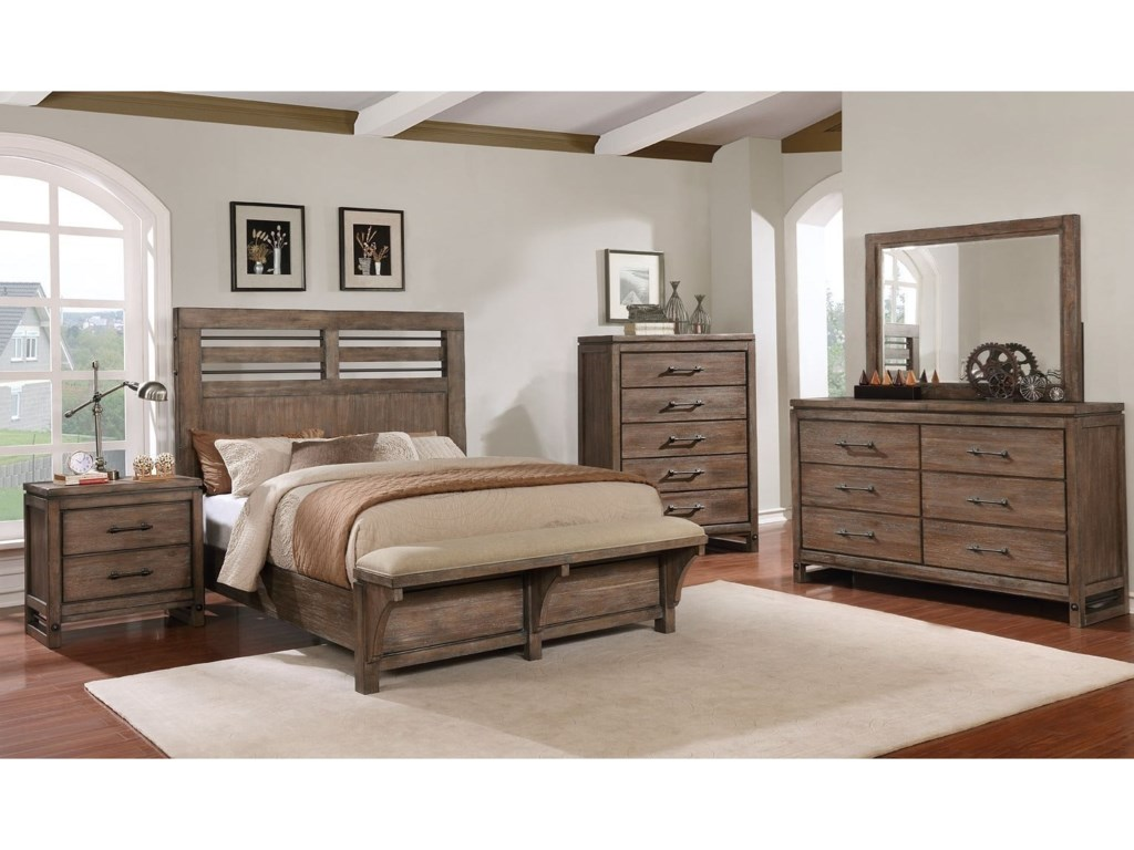 Avalon Furniture Round RockKing Bedroom Group
