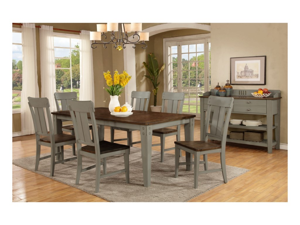Avalon Furniture Shaker NouveauCasual Dining Room Group