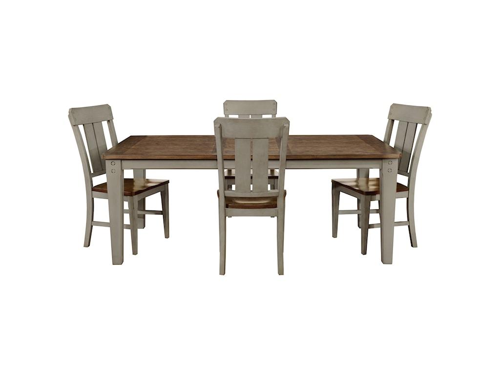 Avalon Furniture Shaker Nouveau5-Piece Dining Table Set