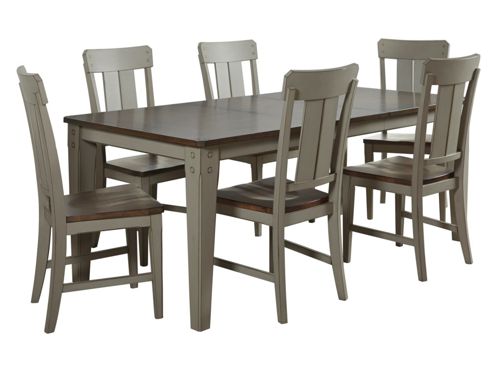 Avalon Furniture Shaker Nouveau7-Piece Dining Table Set