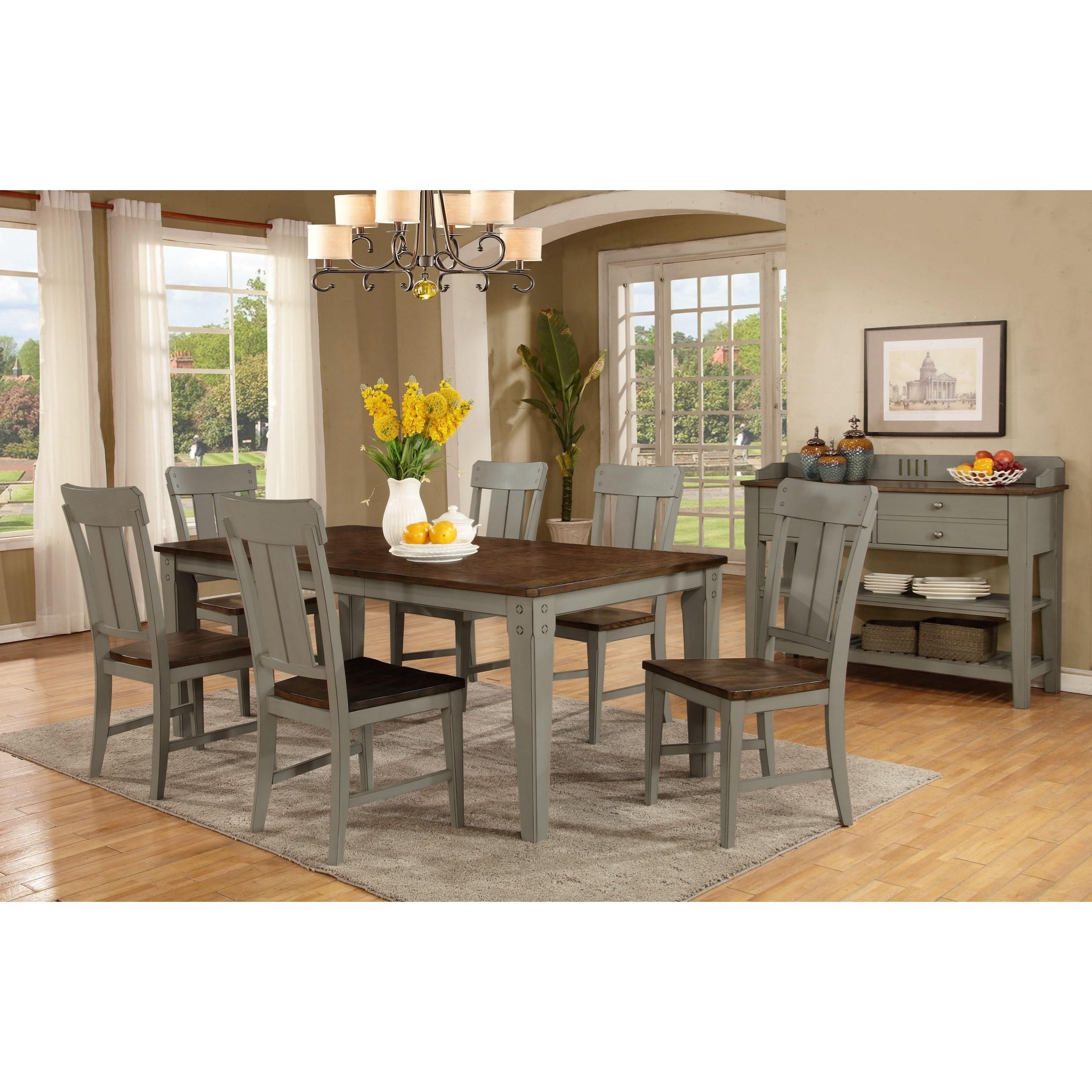 ... Avalon Furniture Shaker Nouveau7 Piece Dining Table Set
